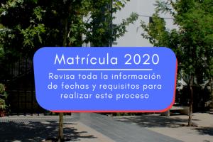 Información Matrículas 2020