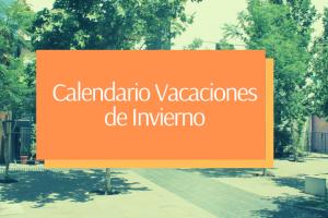 Calendario de Vacaciones de Invierno